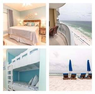 Photo for SPACIOUS 1 Bedroom with 2 bunks and 2 Baths, BEACH SET UP INCLUDED! 25 to RENT