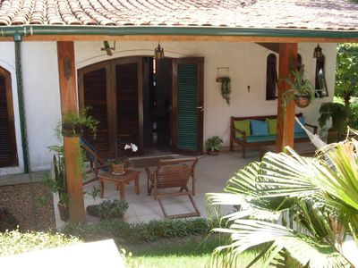 Photo for House with pool, barbecue and garden in Barra do Una for up to 10 people