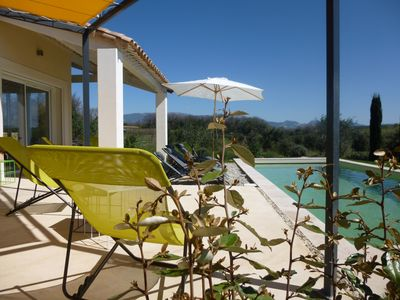 Photo for Provence-villa contemporary air-conditioned 6pers-even foot-view-quiet-pool pri