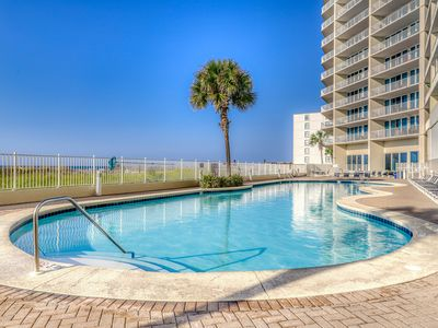 Photo for Gulf-front condo w/ sauna, Free WiFi, indoor pool, and beach access!