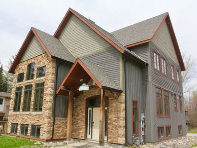 Photo for 109 Plater- A Luxury Chalet, Vaulted Ceilings, Fireplace+ Hot Tub- Summer is here!