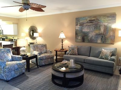 Spacious Living Room with Queen Sleeper Sofa 65 inch smart TV