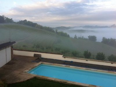 Photo for 5BR Hilltop wine country home w pool and spectacular views near Alba and Barolo