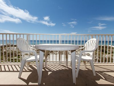Balcony view - Straight on view from your gorgeous 2nd floor (3rd story) unit