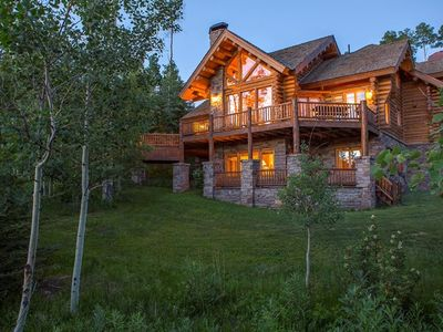 Photo for Luxurious 4-Bedroom Log Home on Ski Trail