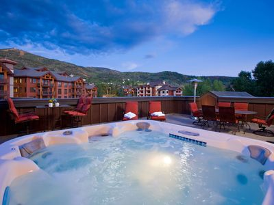 Photo for Private Roof Top with Hot Tub, Fire Pit and BBQ! Stunning! BL6304