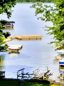 Photo for Romantic Log Cabin directly on Lake with a Boat lift and Awesome views!