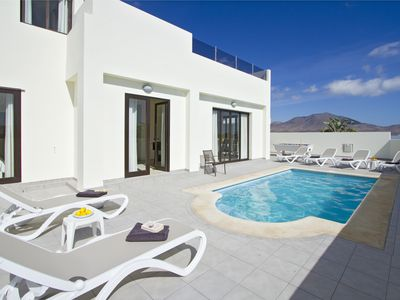 Photo for Modern, Luxury Villa with Hot Tub on Roof Terrace, Private Pool & Pool Table