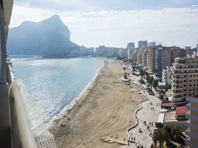 Photo for Apt in Esmeralda with stunning views of the Levante Beach in Calpe.
