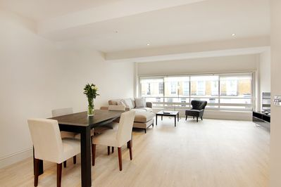Spacious and bright Lounge and Dining Area in your newly refurbished apartment
