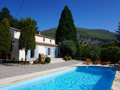 Photo for Beautiful Secluded Villa, Northern Provence, heated pool.  Tour de France 2020!
