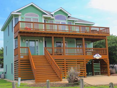Photo for Enjoy a lovely community view from the spacious decks, with beach access only 3 blocks away