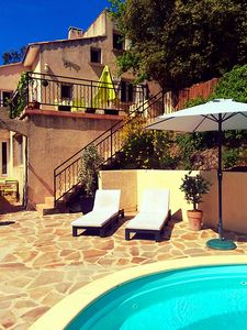 Photo for Villa St Michel.Private 4 bed detached gite w/pool. Lamalou les Bains.Golf/yoga