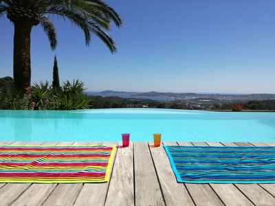 Photo for Prestigious villa 'LA VILLA COURTINE' private heated pool panoramic view