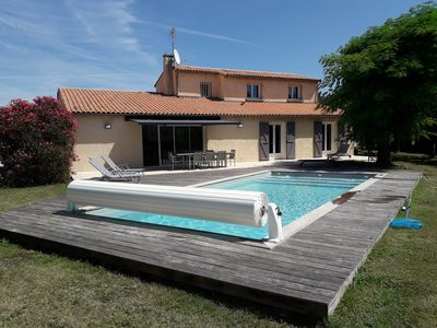Photo for RENOVATED VILLA 200 M2 HEATED POOL 4 BEDROOMS IN A GREEN CASE