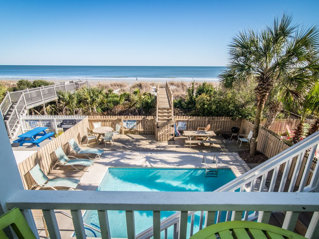 Excellent 5Br Oceanfront Spacious Beach House W Private Pool And Beach Boardwalk Surfside Beach Home Interior And Landscaping Ologienasavecom
