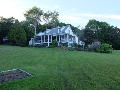 Photo for Beautiful, Traditional Maine Home With Great Porch, Sand Beach, And Water Views