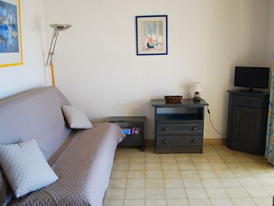 Photo for SYMPATHIC T2 RES WITH SWIMMING POOL AND PARKING, 100M FROM THE SEA - CAP D'AGDE - ref: JACA 411