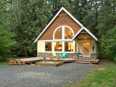 Photo for Mt. Baker Lodging's Cabin #1 - A perfect new contemporary family retreat with a hot tub!