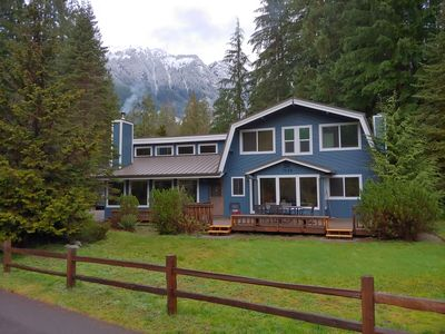 Photo for Giant Double House with Bar, Hot Tub, WiFi, Sunny Patio, and More! Sleeps 14(+)!