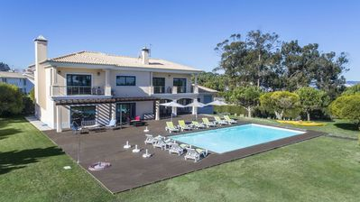 Photo for Villa Troia Deluxe - Superb Beachfront luxury villa, pool & private tennis court, 70 m from the beac