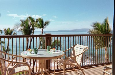 No better place for breakfast than on the lanai.