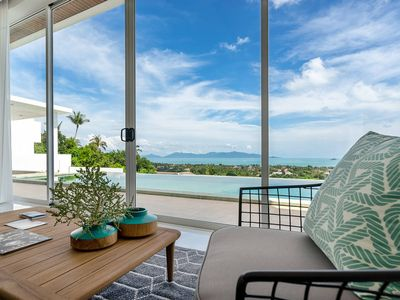 Photo for An outstanding intimate villa with stunning vistas!  A modern three-bedroom holiday escape, villa Cl