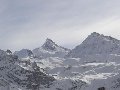 Photo for Charming apartment facing south, overlooking the Matterhorn in Saint-Luc, Val d'Anniviers