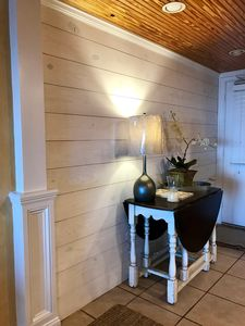 Foyer with white washed ship lap just added!