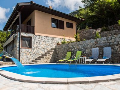 Photo for Two-Bedroom House Villa with Pool and Stunning Sea View