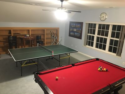 Hours of fun with the Pool Table and Ping Pong Table