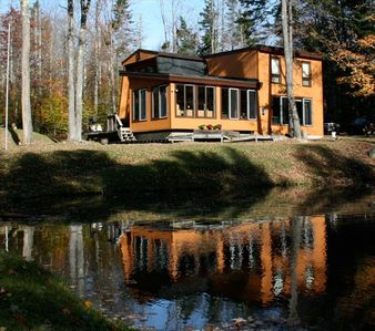 Photo for Spacious 5 BR Mt Snow House on 2 Acres with Pond,Hot Tub,Sauna
