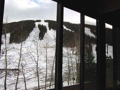 View from condo looking toward Copper Mountain.  Ski in/ski out.