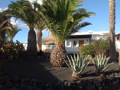 Photo for Holiday home on Lanzarote with pool and large garden.