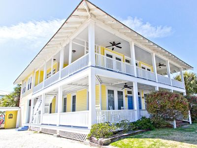 Photo for Historic Tybee Apartment Home with Ocean View, Only 1/2 Block to South End Beach