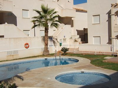 Photo for Two bedroom apartment with views of the golf course, Mojacar Playa