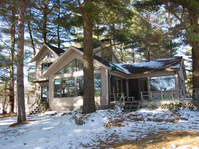 Photo for Lake Front Home, Private Dock, Easy walk to Sandy Shoreline.