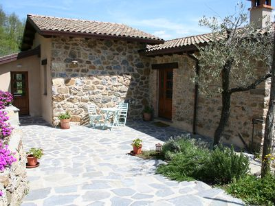Photo for Beautiful Restored Traditional Village Cottage/ Private Pool/Breathtaking Views