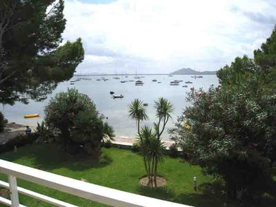 Photo for EXCLUSIVE APARTMENT IN FIRST LINE OF SEA, PINE WALK AREA OF PORT POLLENÇA