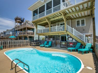 Photo for Fins Up | 630 ft from the beach | Private Pool, Hot Tub
