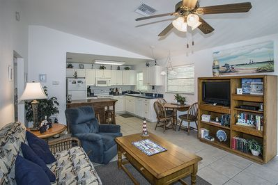Unit A, Entertainment Center, Family Room, and Kitchen.