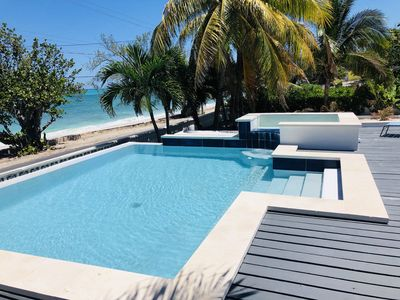 Photo for Tropical Beachfront Luxury Resort Villa. Infinity Pool w/ Integrated Jacuzzi