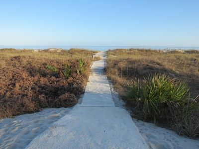Photo for Steps to the beach! 1st floor. Fall dates just opened up. Great time to visit!