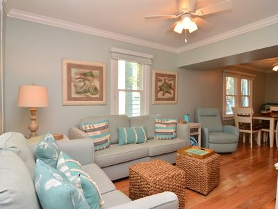 Photo for ONLY 2.5 BLOCKS TO BEACH 4BR DOG FRIENDLY DUPLEX SLEEPS 8 LINENS SUPPLIED