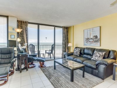 Photo for Oceanfront 3 BDR Condo with 2 Beach Front Terraces