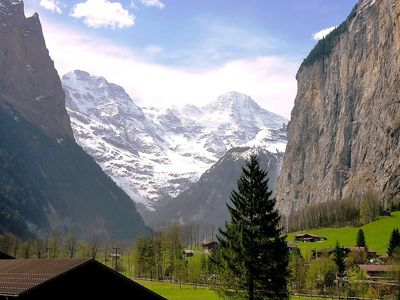 Photo for Apartment in the center of Lauterbrunnen with Parking, Internet, Washing machine, Balcony (38497)