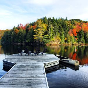 Just a 5 minute walk from the house is private Lac la Tuque!