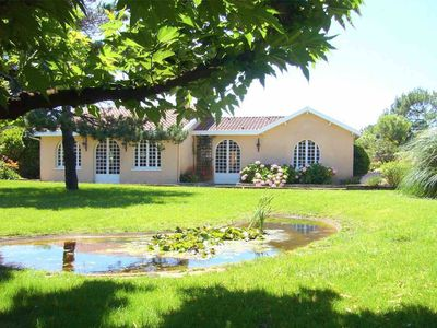 """Photo for Exceptional """"Villa Wallis"""" heated pool, 150m from the south beach access."""