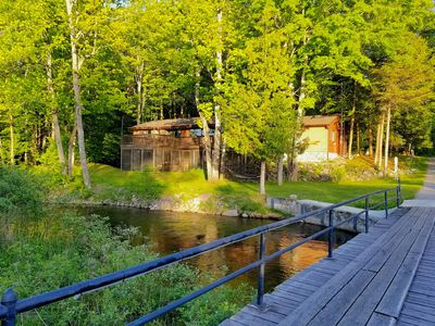 Photo for Secluded Cottage on the Boardman River w/ Hot Tub, Fireplace, & Internet