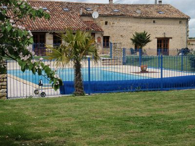 Lovely ancient farmhouse with large 12x6 metre Swimming pool, large grassed area